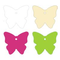 Lot de 4 Etiquettes Papillon Bristol pour prénoms