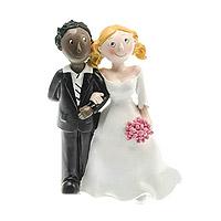 Figurine des Mariés Mixte Femme Blanche Homme Black