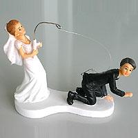 Figurine Mariage Humoristique Canne a Pêche