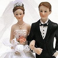 La figurine des Mariés Voile et Organza