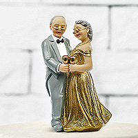 Figurine Couple Papi Mamie Noces d'Or