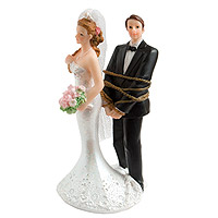 Figurine Mariés Ligotés Corde