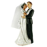 La Figurine des Mariés Femme de Couleur  Homme Blanc