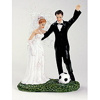 Figurine Mariés Footballeur Ballon