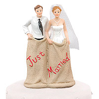 Figurine Piece Montee Mariage Fun Just Married