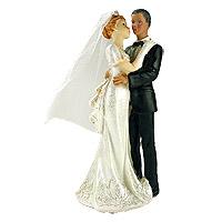 Figurine Mariés Femme Blanche Homme de Couleur