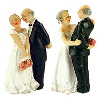 Lot de 2 Figurines des Mariés Papy et Mamie
