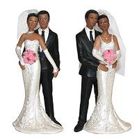 Figurines des Mariés de Couleur