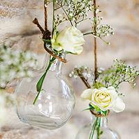 Fiole Verre Vase Vintage