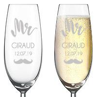 Flute Champagne Gravée Mr Mrs
