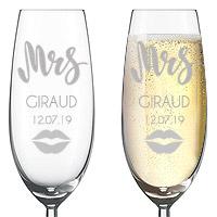 Flute Gravée Mr Mrs