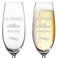 Flute à Champagne Gravée Luxe La Mariée