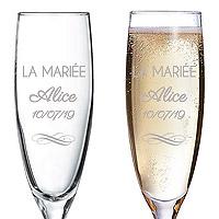 Flute à Champagne Gravée La Mariée