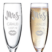 Flute Gravée Mariage Mr and Mrs
