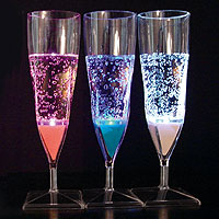 Lot de 2 Flutes à Champagne Lumineuses Led