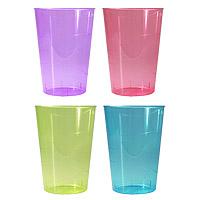 Verres à Eau Cocktail Plastique Couleur Transparent