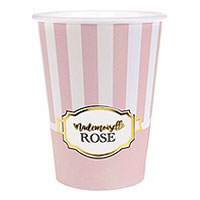 Gobelets Carton Baby Shower Mademoiselle Rose x10