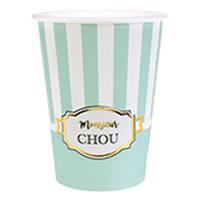 Gobelets Carton Baby Shower Monsieur Chou x10
