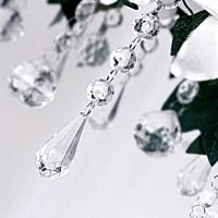 Le Lot de 5 Pendentifs Goutte Cristal