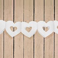 Banderole Coeurs Ajourés Blanc