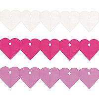 Guirlandes Coeurs Papier de Soie Mariage