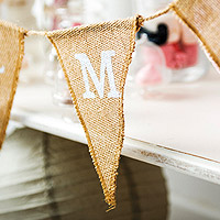 Guirlande Banderolle Fanions Mariage Just Married Jute