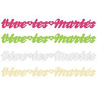 Lot de 2 guirlandes lettres Vive les Mariés