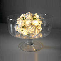 Guirlande Lumineuse Led Roses Blanches Piles