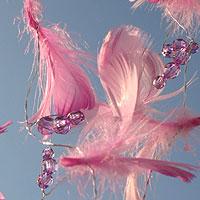 Guirlande Plumes Perles Decoration Mariage