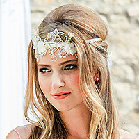 Headband Couronne Cheveux Luxe Brodée