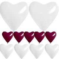 Coffret Ballon Coeur Mariage Bordeaux Discount
