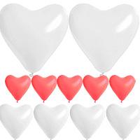 Kit Coffret Ballon Mariage Coeur Rouge Blanc Pas Cher