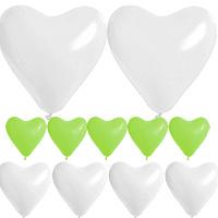 Coffret Ballon Coeur Mariage Vert Anis