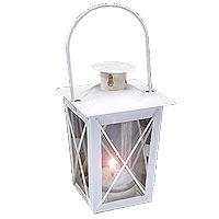 La Lanterne en Fer Blanc et Verre pour Table ou Jardin