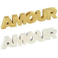 La Déco de Table Mot Amour Pailleté