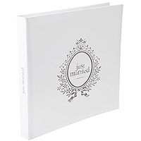 Livre d'Or Blanc Mariage Just Married