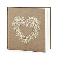Livre d'Or Kraft Romantique Coeur Doré