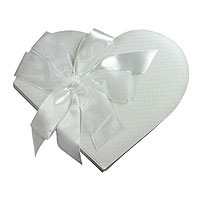 Livre d'Or Mariage Forme Coeur Blanc