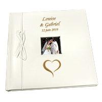 Livre d'Or Personnalisé Mariage Gravé