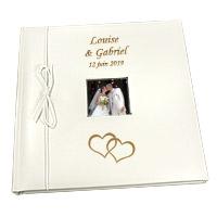 Livre d'Or Personnalisé Mariage Double Coeurs