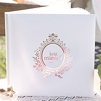 Livre d'Or Just Married Rose Gold