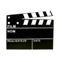 Lot de 3 Marque-Places Chevalet Clap Cinéma Ardoise
