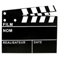 Clap Cinéma Chevalet Marque Table Ardoise Géant