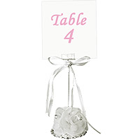 Le Marque Table Organza et Perles Support Blanc