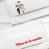 Masque en Tissu Blanc Mère de la Mariée