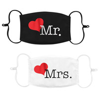 Lot 2 Masques Satin Mr and Mrs