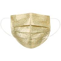 Masque Chirurgical Paillettes Doré