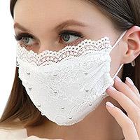 Masque Mariée Dentelle et Perles