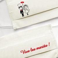 Masque Covid Vive les Mariés Tissu