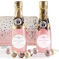Bouteille Champagne Gel Douche Rose Cadeau Original